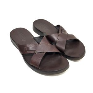 - SOLD - TOD'S Brown Leather Crisscross Sandals